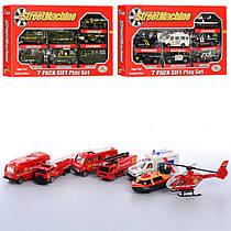 Детский набор машинок Спецтехника металлические, инерционные, полиция, пожарная, военная техника,PT 2011