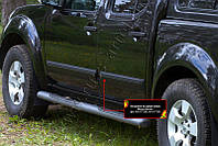 Молдинги дверей узкие Nissan Navara 2005-2010 г.в. (Ниссан Навара)