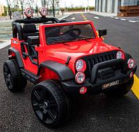 Детский двухместный электромобиль джип M 3469 EBLR-3 красная