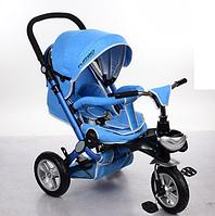 Велосипед-коляска с поворотным сиденьем, надувные колеса M AL3645A-12, голубой