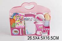 Детская кухня 860-33 (1383182)  холодильник, микроволновая печь, блендер, кулер, продукты, в сумке 26, 5*4, 5*16, 5 см.