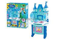 Набор детская кухня Frozen 018-35  на батарейках, свет, звук, посуда,  в коробке