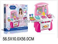 Набор детская кухня 1526(1453415) газовая плита, духовка, мойка, набор посуды, в коробке 57*10*56 см.
