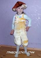 Карнавальный (новогодний) костюм Гриб Грибок для мальчика и девочки