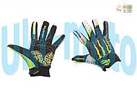 "Перчатки   (size:M, черно-зеленые)   ""PRO-BIKER AND MONSTER ENERGY"""