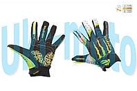 "Перчатки   (size:L, черно-зеленые)   ""PRO-BIKER AND MONSTER ENERGY"""