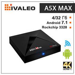 Смарт ТВ приставка A5X Max 4G + 32G