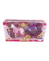 Карета 05015 (1343668) с лошадкой, куколкой, в коробке 40*11*21 см.