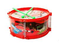Игрушечный музыкальный инструмент барабан Тачки 8646