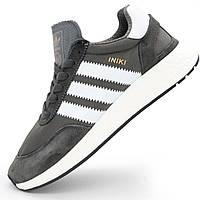 Модные кроссовки для бега  Adidas Iniki (Адидас Иники) серые - Реплика р.(37, 38, 39, 42, 44)