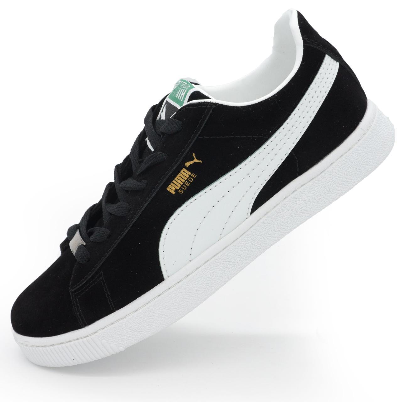 Женские и мужские кроссовки Puma Suede (пума суеде) черные р.(36 ... b0f01607b81