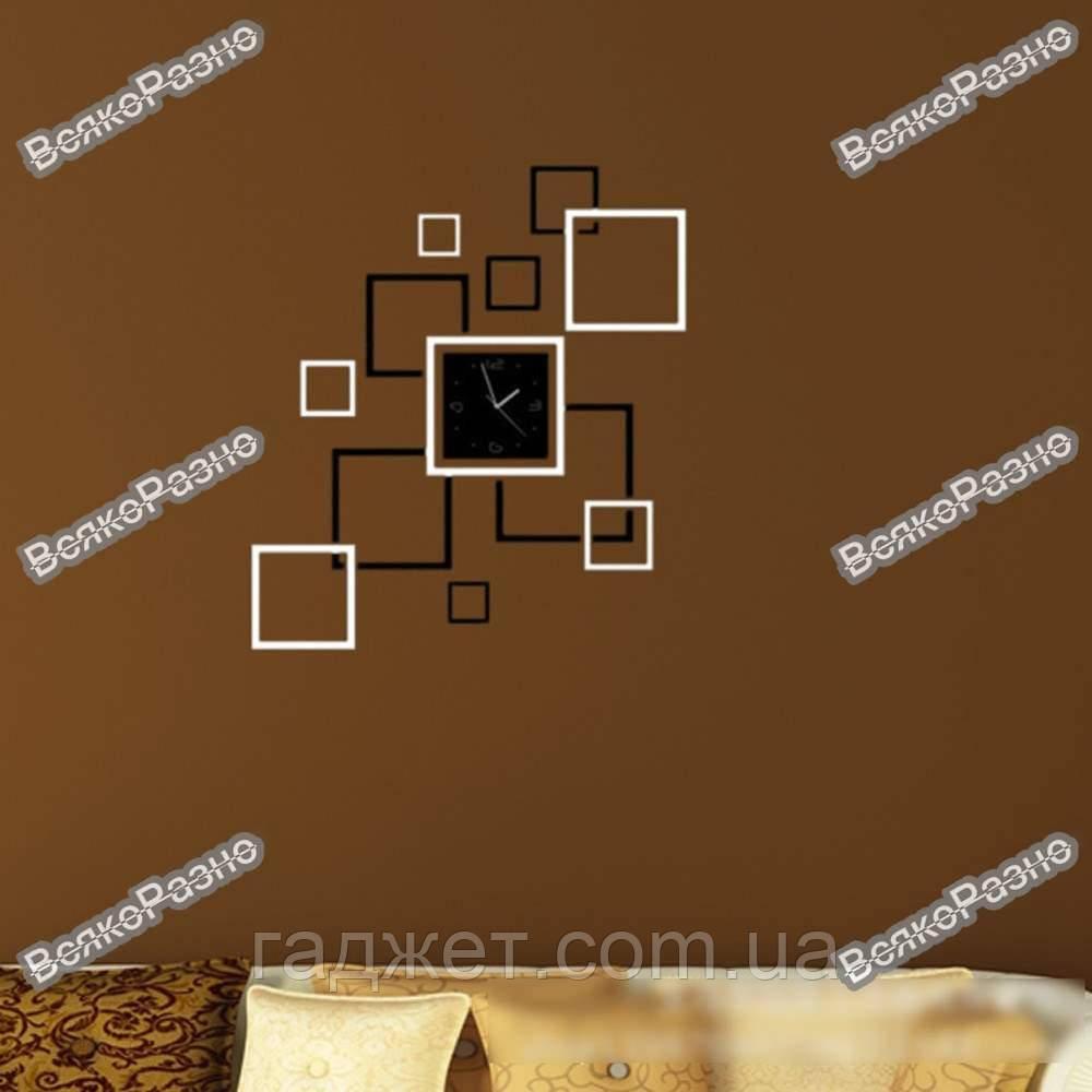 Акриловые настенные часы квадраты