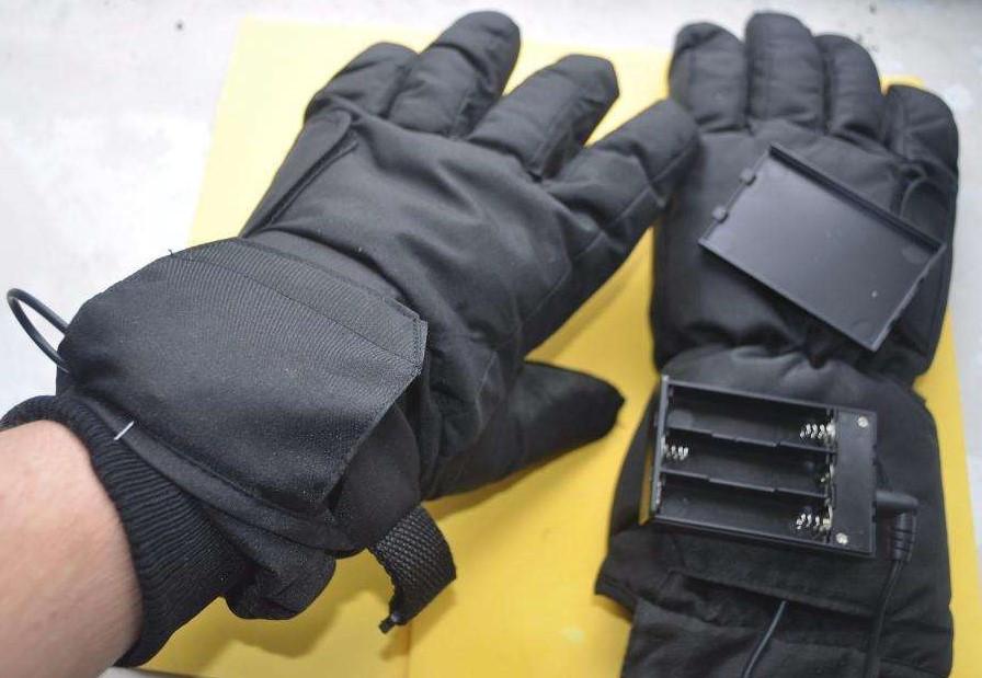 Зимние термо перчатки с подогревом Thinsulate 3M (Германия), на батарейках типа АА.