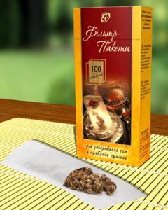 Фильтр-пакет для заваривания травяного чая 100 шт