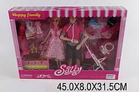 Кукла  Барби Семья  KX9909 (1355296 Кеном, куколкой, одежд.ходунки, коляска, в коробке  32, 5*30