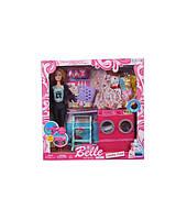 Кукла  Барби  JX600-33  одежда, стиральная машина гладильная доска корзина и др., в коробке 36*35*7 см.