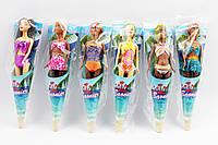Кукла  Барби  JJ8588G 3 вида: меняет цвет волос/тела/волос + тела от тепла, дисплей бокс 29 см.