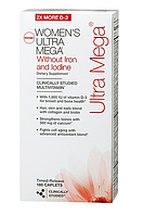 GNC Women's Ultra Mega Without iron & lodine (180 капс.)
