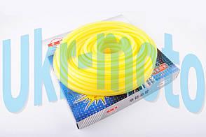 Шланг топливный   Ø4mm, 20 метров   (силиконовый, желтый)