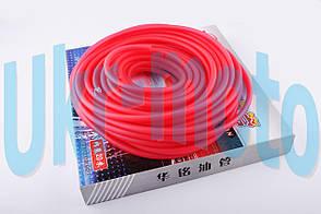 Шланг топливный   Ø4mm, 20 метров   (силиконовый, красный)