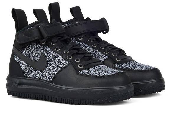 new product 29011 67de3 Мужские кроссовки Nike Lunar Force 1 Flyknit Workboot Black Grey, фото 2