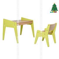 Детский стол и стульчик FUNDESK OMINO GREEN