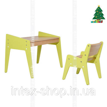 Детский стол и стульчик FUNDESK OMINO GREEN, фото 2