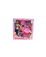 Кукла  Барби  JX600-46  стульчик,  расческа,  умывальник с тумбой,  в коробке 31*7*33 см.