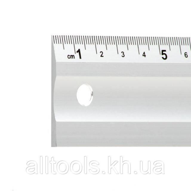 Линейка строительная алюминиевая 400мм INTERTOOL MT-2002