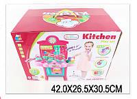 Набор детская кухня 3830-19 (1635071) газовая плита,  духовка, посуда в коробке 42*26*30 см.