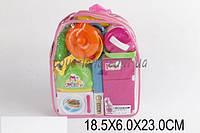 Детская кухня 860-39 (1383188)  холодильник, тостер, микроволновая печь, посуда, в сумке 18*6*23 см.