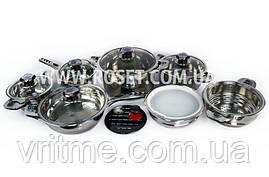 Набір кухонної посуди 16 предметів Supretto з термодатчиком