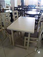 Стол обеденный Сид бежевый 120(+30)х70х75 прямоугольный деревянный раскладной