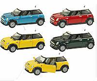 Машина металлическая KINSMART KT5059W Mini Cooper S  в коробке 16*8*7см