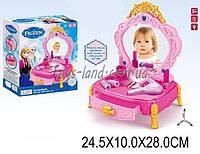 """Детский туалетный столик """"Frozen"""" 80852-1 (1446805) на батарейках, свет, звук, зеркало, фен, аксессуары в кор25*10*28"""