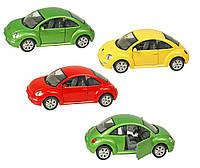 Машина металлическая KINSMART KT7003W (48шт/4) Volkswagen New Beetle, в коробке 20*9*9,5см