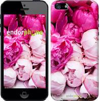 """Чехол на iPhone 5s Розовые пионы """"2747c-21-532"""""""