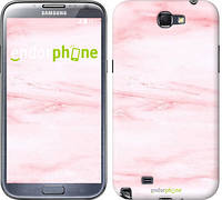 "Чехол на Samsung Galaxy Note 2 N7100 розовый мрамор ""3860c-17-532"""