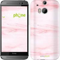 "Чехол на HTC One M8 розовый мрамор ""3860c-30-532"""