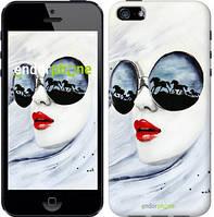 "Чехол на iPhone 5 Девушка акварелью ""2829c-18-532"""