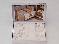 Детское постельное белье с пике Tivolyo Home Baby Family Розовый