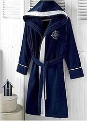Халат Soft Cotton Marine Lady Темно-синий L 48-50