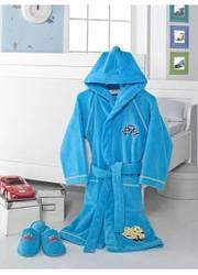 Детский халат для мальчика Soft Cotton Pilot 2 года 92см