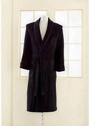 Халат Soft Cotton DELUXE Черный XL 50-52
