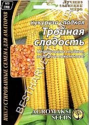 Семена кукурузы «Тройная сладость» 20 г, инкрустированные
