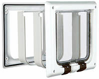 Trixie  TX-38641  дверца для кота 4-Way Cat Flap with Tunnel (15,8х14,7см,2 магнита)
