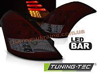 Задние фонари на Suzuki Swift 2010 красно-тонированные