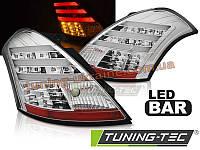 Задние фонари на Suzuki Swift 2010 хромированные