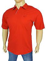 Польская мужская тенниска 0310 Imako красного цвета в большом размере
