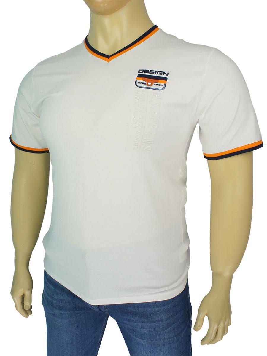 Чоловіча світла футболка Egos 4120 великого розміру